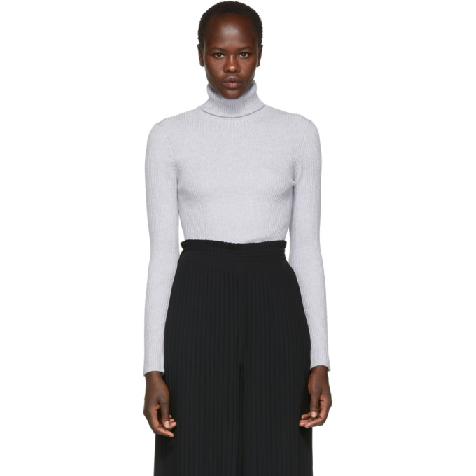 31 Phillip Lim Grey Wool Rib Turtleneck