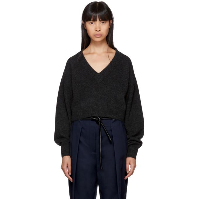 31 Phillip Lim Grey Lofty V Neck Sweater