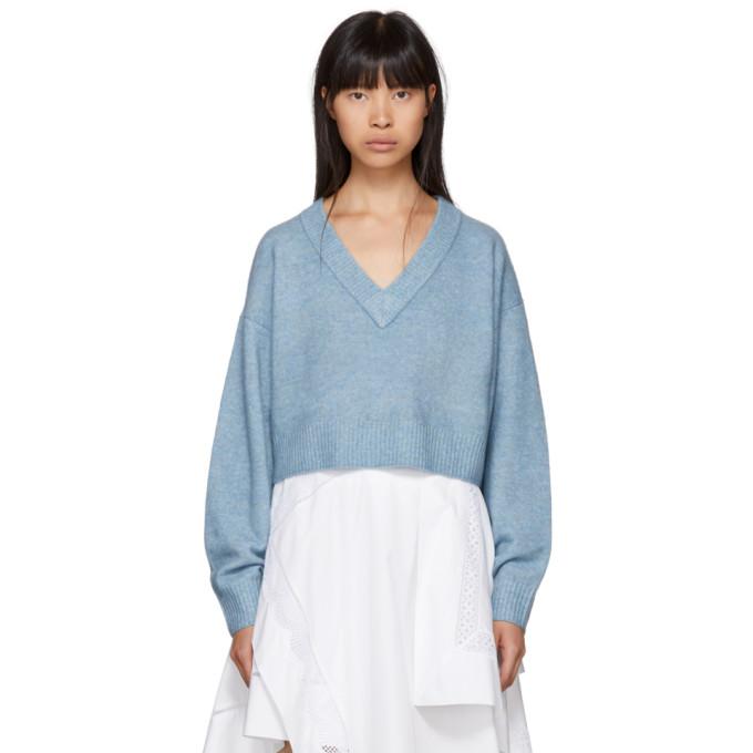31 Phillip Lim Blue Lofty V Neck Sweater