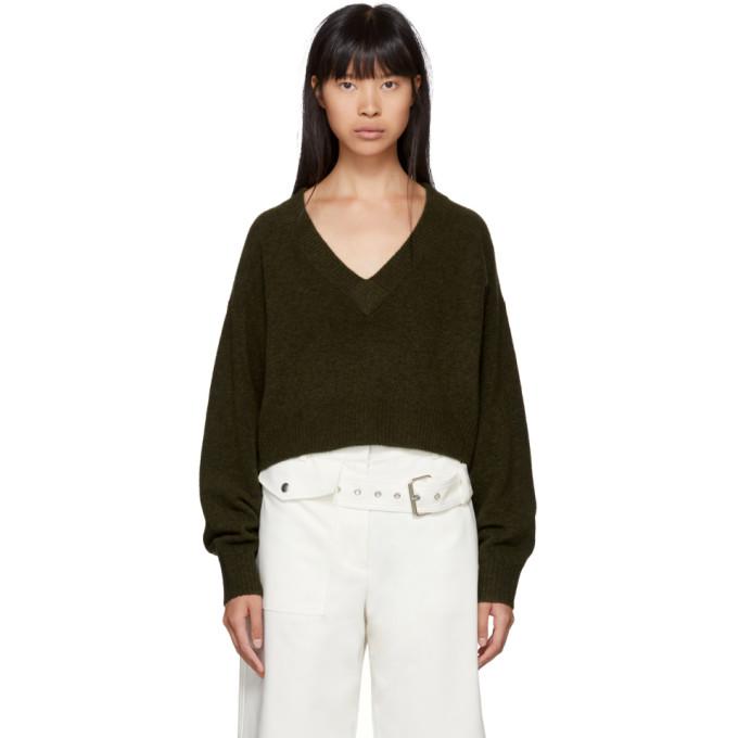 31 Phillip Lim Green Lofty V Neck Sweater