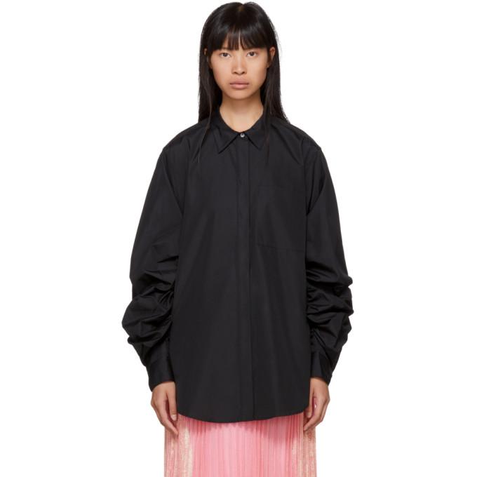31 Phillip Lim Black Gathered Sleeve Shirt