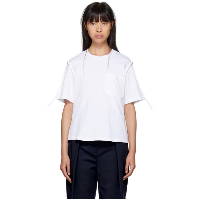 31 Phillip Lim White Patch Pocket T Shirt