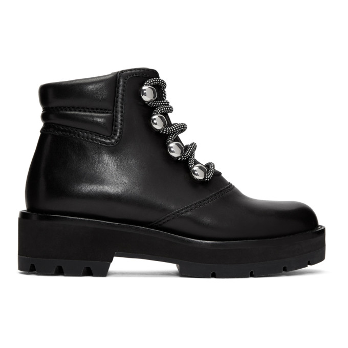 31 Phillip Lim Black Dylan Hiking Boots