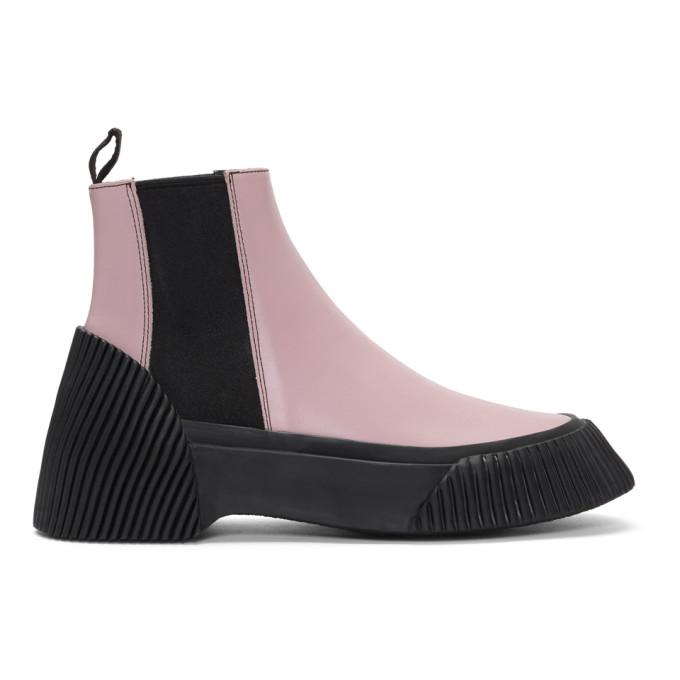 3.1 Phillip Lim Pink Vulcanized Lela Chelsea Boots