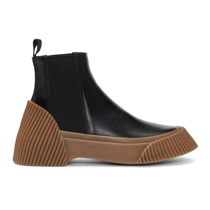 3.1 Phillip Lim Black Lela Vulcanized Chelsea Boots