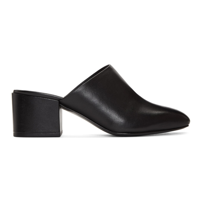 31 Phillip Lim Black Square Toe Mules