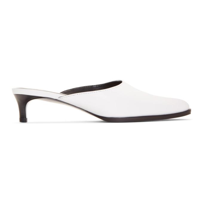 3.1 Phillip Lim White Agatha Kitten Heels
