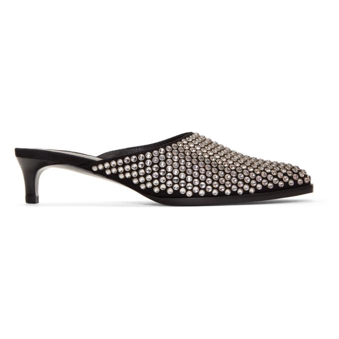 3.1 Phillip Lim Black & Silver Agatha Kitten Heels
