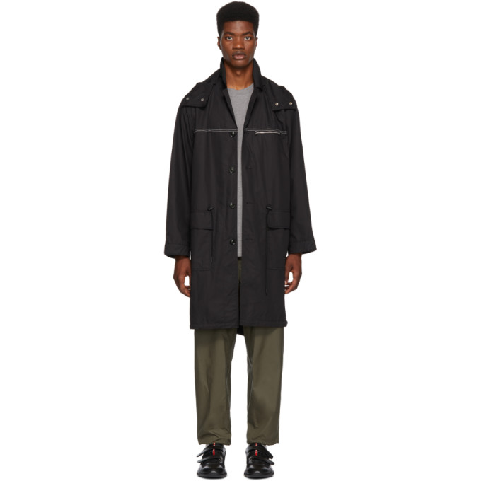 31 Phillip Lim Black Oversized Parka Coat