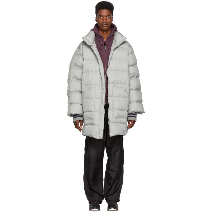 3.1 Phillip Lim Grey Down Oversized Coat