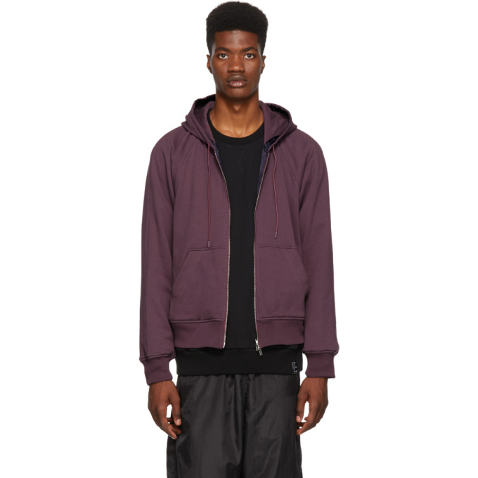 31 Phillip Lim Reversible Purple Hoodie Jacket