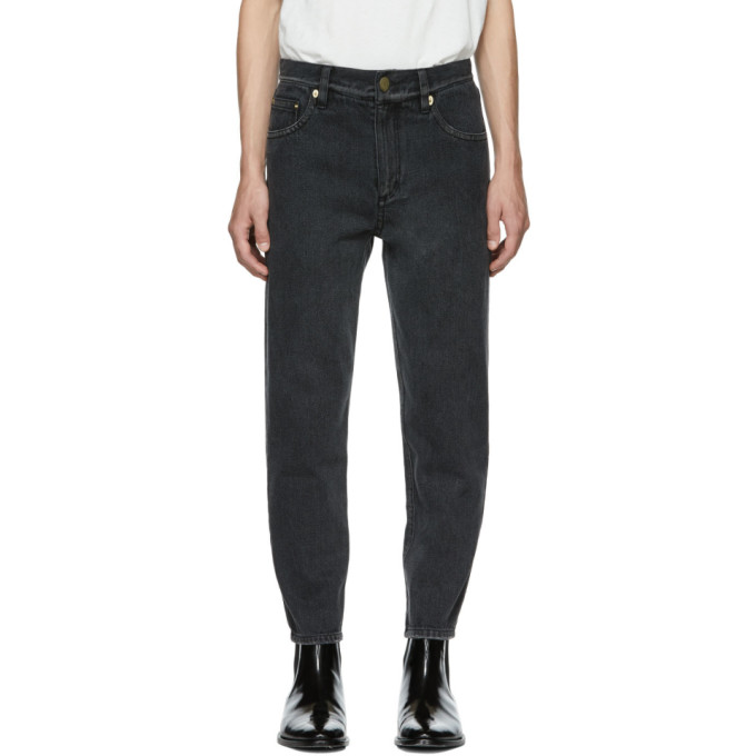 31 Phillip Lim Black Tapered Cropped Jeans