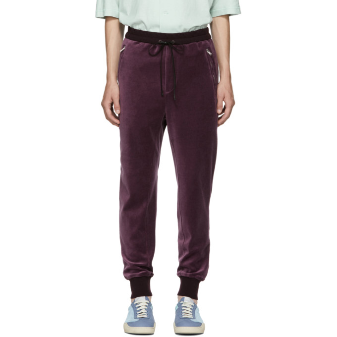 31 Phillip Lim Burgundy Cropped Sweatpants