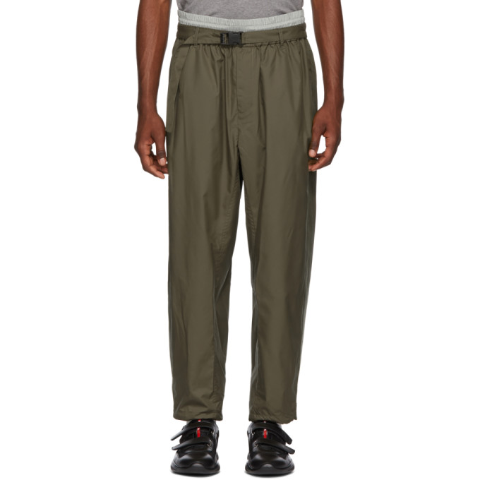 31 Phillip Lim Green and Grey Double Track Lounge Pants