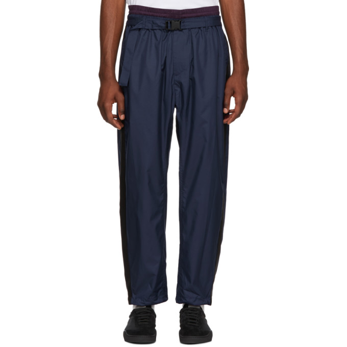 31 Phillip Lim Navy and Burgundy Double Track Lounge Pants