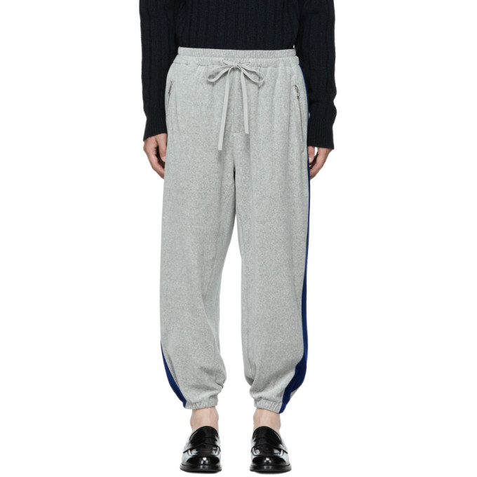 31 Phillip Lim Grey and Blue Baggy Sweatpants
