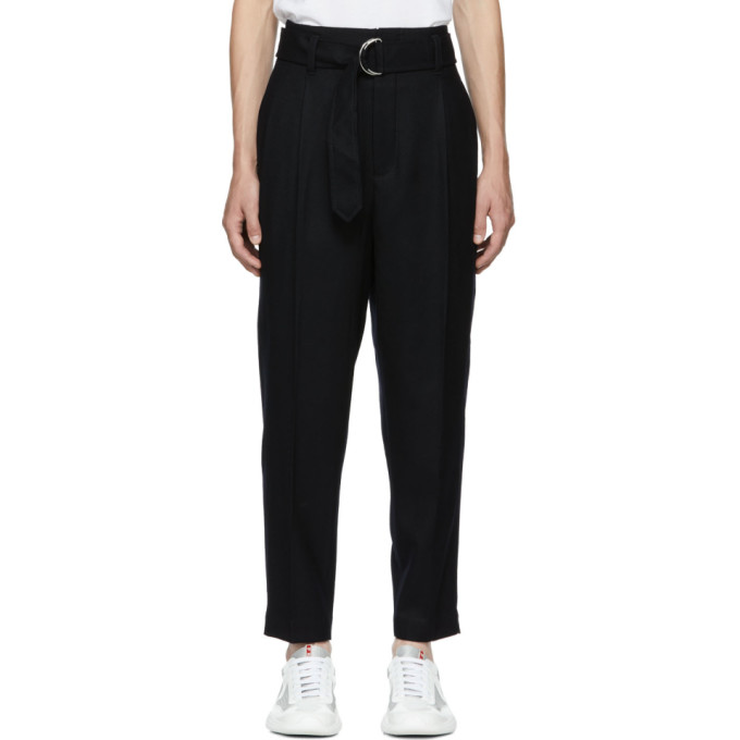 31 Phillip Lim Black Relaxed Pleated Belted Trousers