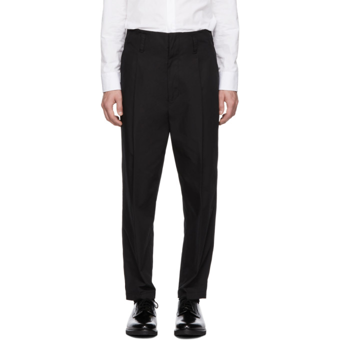31 Phillip Lim Black Cropped Pleated Trousers