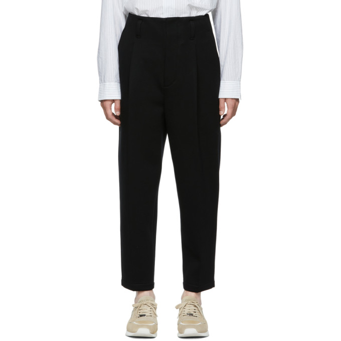 31 Phillip Lim Black Bonded Trousers