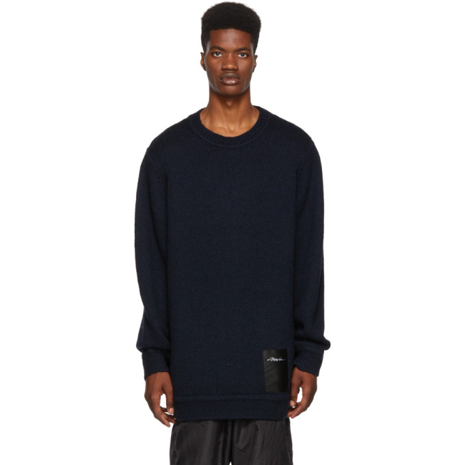 3.1 Phillip Lim Navy Maxi Chunky Wool Sweater