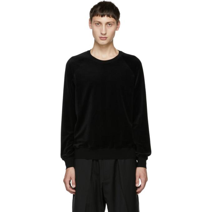 31 Phillip Lim Black Classic Velour Sweatshirt