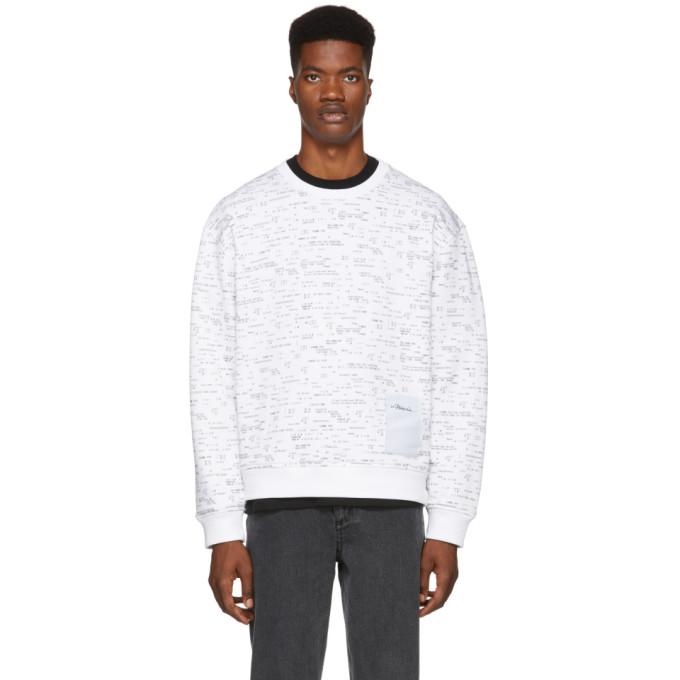 3.1 Phillip Lim White Receipt Print Sweatshirt