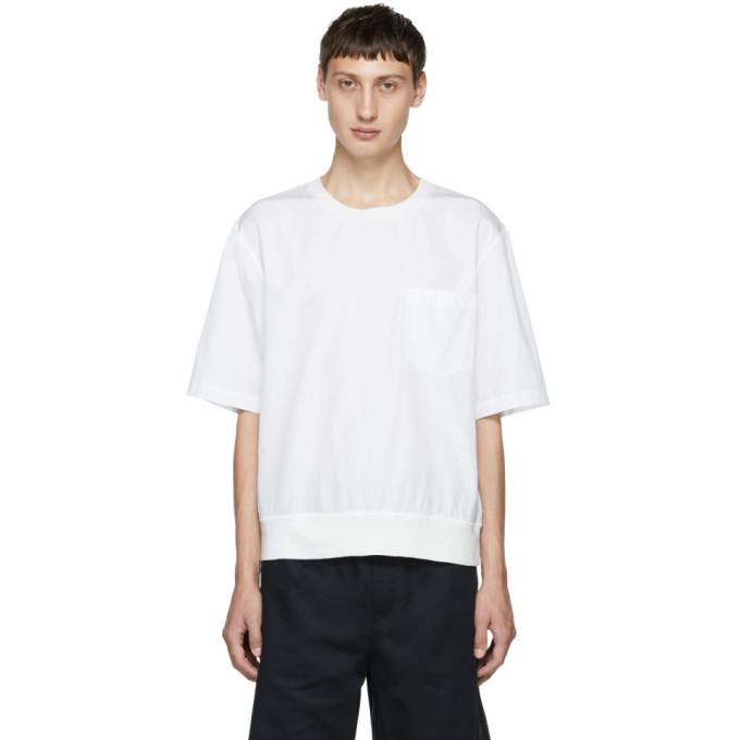31 Phillip Lim White Rib Hem T Shirt