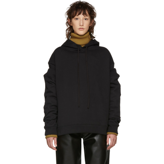 Image of Raf Simons Black Additional Sleeve Hoodie