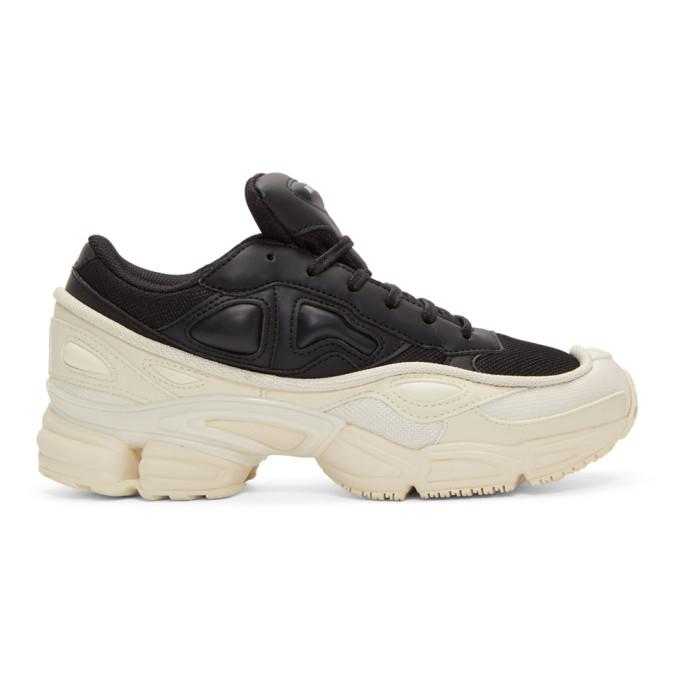 Raf Simons Black And White Adidas Originals Edition Ozweego Sneakers, 00099 Black