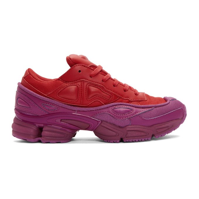 Raf Simons Red And Pink Adidas Originals Edition Ozweego Sneakers in 03033 Red/F