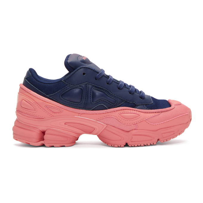 Raf Simons Blue And Pink Adidas Originals Edition Ozweego Sneakers in 04031 Blue/