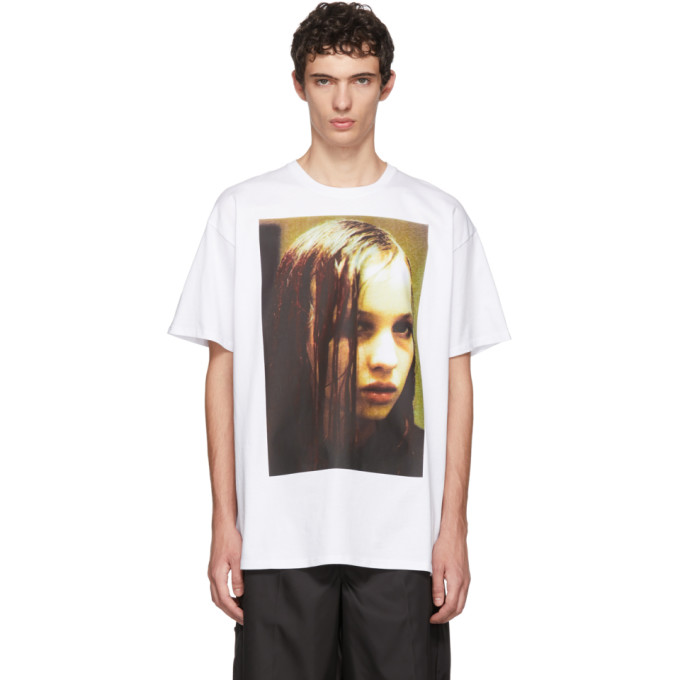 Raf Simons ホワイト Christiane F. Wet Hair T シャツ