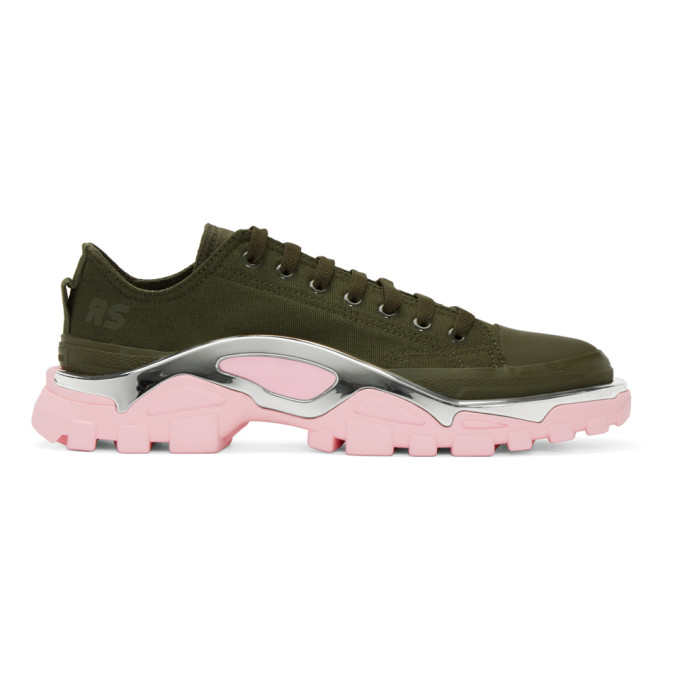 6b7320ad8 Raf Simons Green and Pink adidas Originals Edition RS Detroit Runner  Sneakers