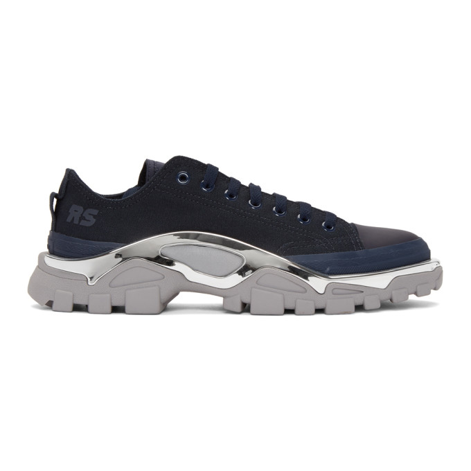 Raf Simons Navy & Grey adidas Originals Edition RS Detroit Runner Sneakers