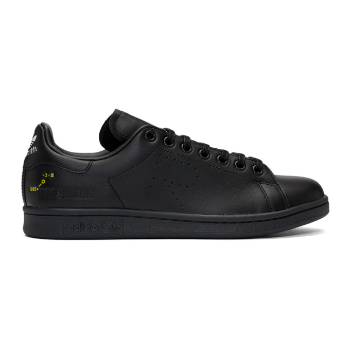 Image of Raf Simons Black adidas Originals Edition Stan Smith Sneakers