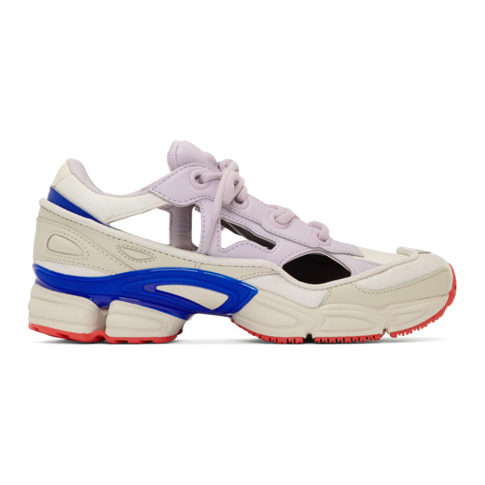 Raf Simons White & Purple adidas Originals Edition RS Replicant Ozweego Sneakers
