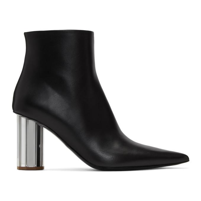 Image of Proenza Schouler Black Pointy Mirror Heel Boots