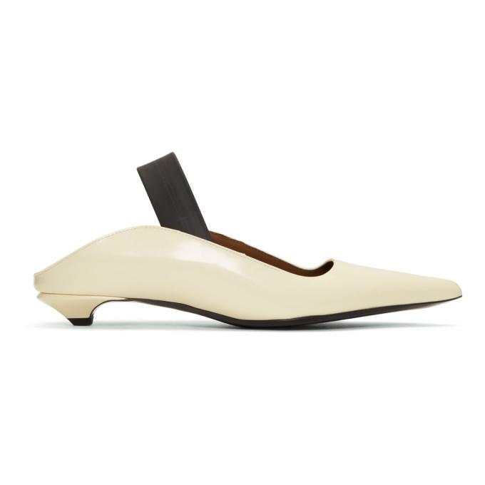 Proenza Schouler White Strap Kitten Heels