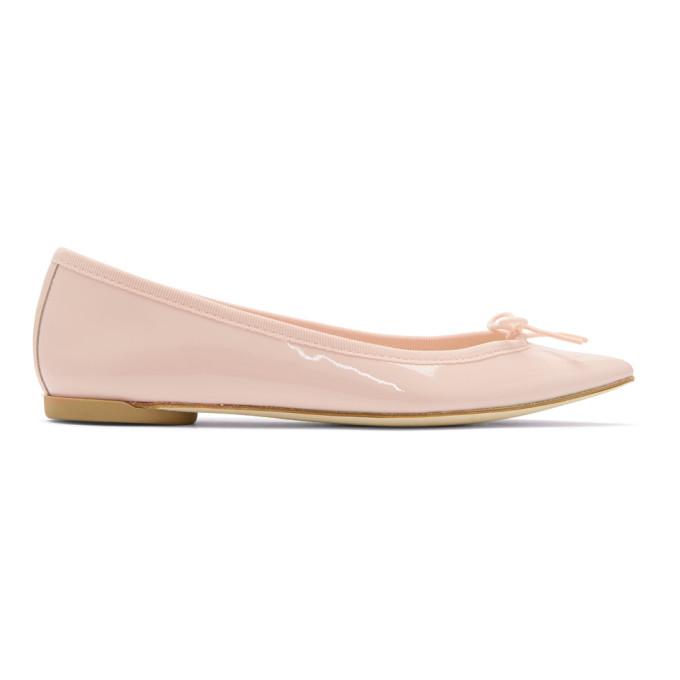Repetto Pink Patent Brigitte Ballerina Flats