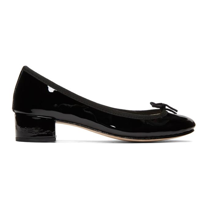 Repetto Black Patent Camille Heels