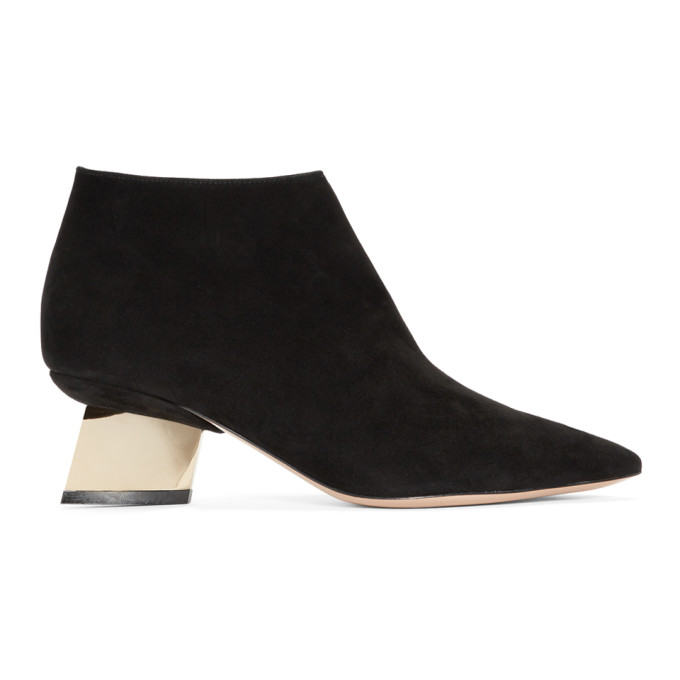 Nicholas Kirkwood Black Suede Veronica Boots
