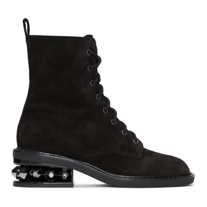 Nicholas Kirkwood Black Suzi Crosta Combat Boots