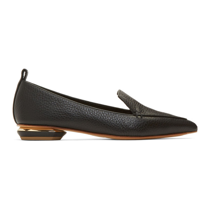 Image of Nicholas Kirkwood Black Leather Beya Loafers