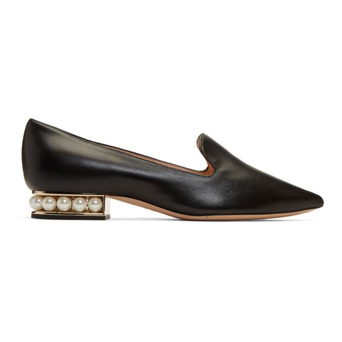 Nicholas Kirkwood Black Casati Pearl Loafers