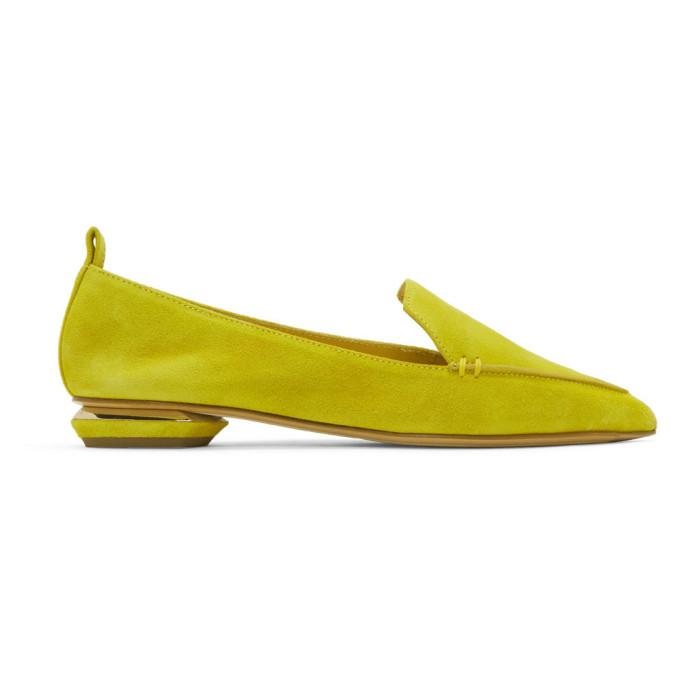 Nicholas Kirkwood Yellow Suede Beya Loafers