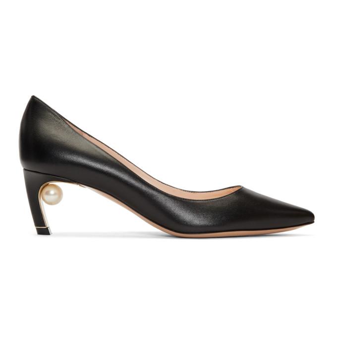 Nicholas Kirkwood Black Mira Pearl Heels
