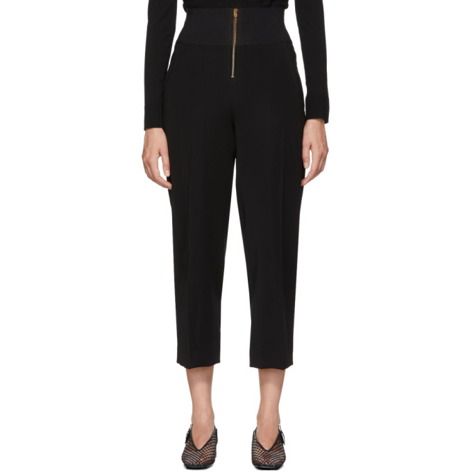 Carven CARVEN BLACK HIGH-WAISTED TROUSERS