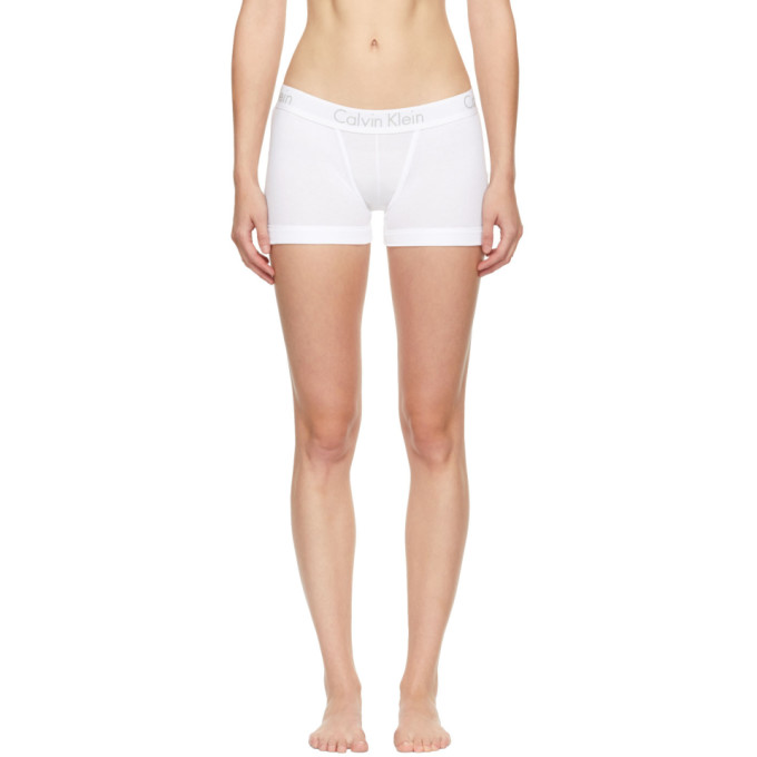 Calvin Klein Underwear White Cotton Boy Shorts