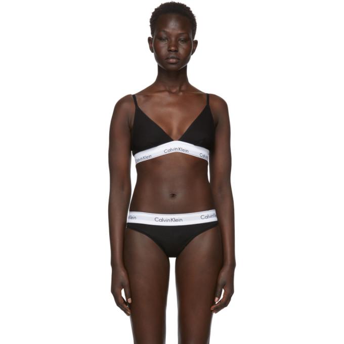 Calvin Klein Underwear Black Modern Cotton Triangle Unlined Bra