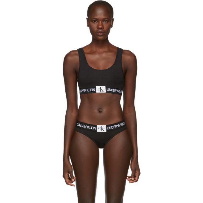Calvin Klein Underwear Black Monogram Mesh Bralette